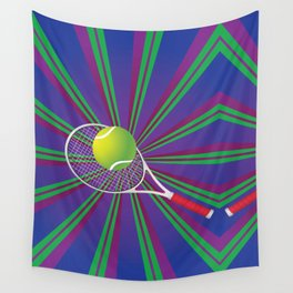 Tennis Ball and Racket Wall Tapestry