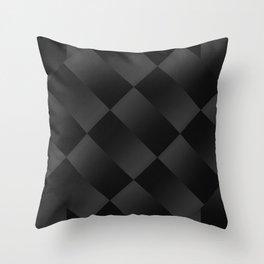 Black on black 2 Throw Pillow