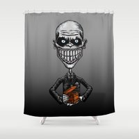 buffy Shower Curtains featuring Buffy - The Gentlemen (Lone Gent) by BovaArt