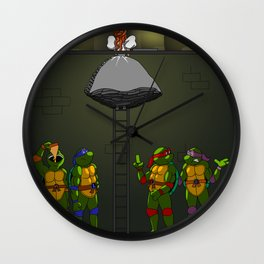 I've Been Dreaming of a Turtle's Kiss Wall Clock