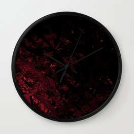 Surreal abstract fractal looks like shatters. Wall Clock