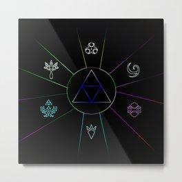 The Triforce Of Symbol Metal Print
