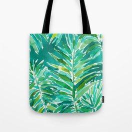 WILD JUNGLE Green Tropical Palm Tote Bag
