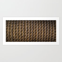 Tight round rope pattern Art Print