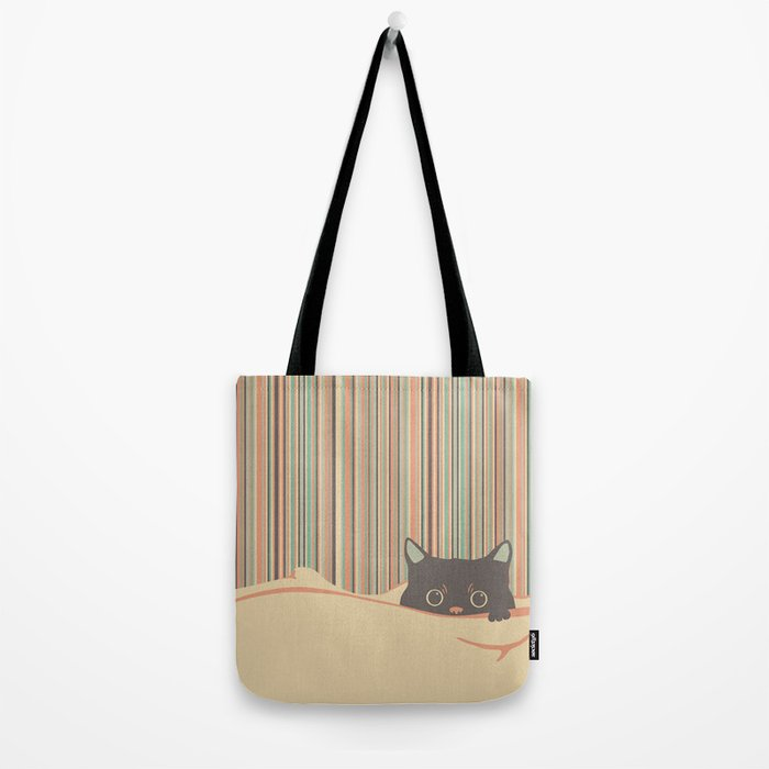 Kitty in the blanket Tote Bag
