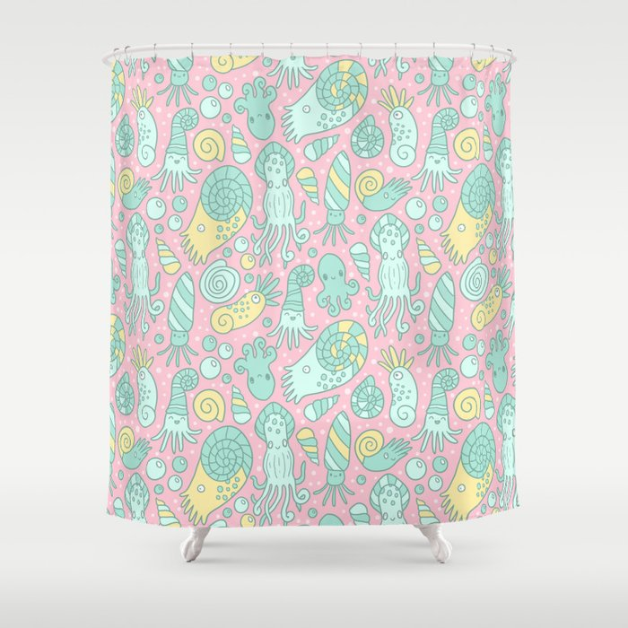 Cute Cephalopods Shower Curtain