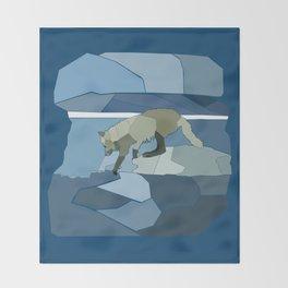 Artic Wolf Throw Blanket