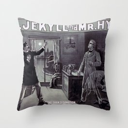 Dr. Jekyll and Mr. Hyde Throw Pillow