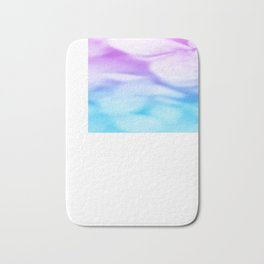 Pastel Flowers Pink Lavender Aqua Bath Mat