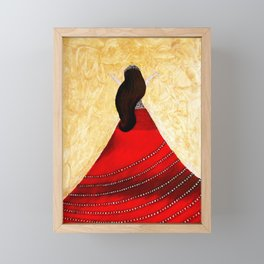 Grateful for red Framed Mini Art Print