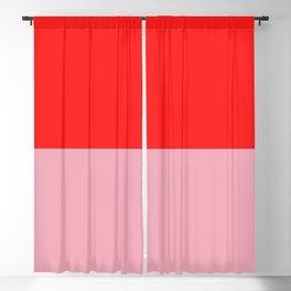 Watermelon Red & Peach Pink Blackout Curtain