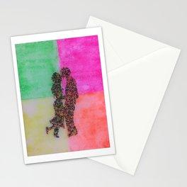 Loving couple art Stationery Cards