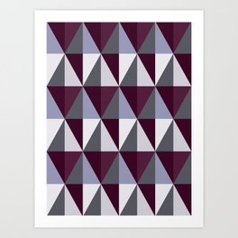 Geo Cabernet Art Print