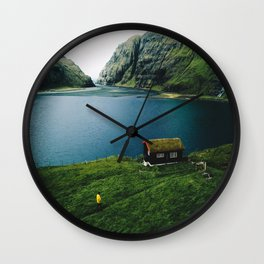 saksun at faroe Wall Clock