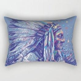 native american portrait-sitting bull Rectangular Pillow