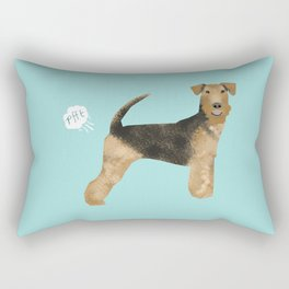 Airedale Terrier funny fart dog breed gifts Rectangular Pillow