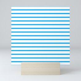 Blue lines. Sailor suit. Mini Art Print