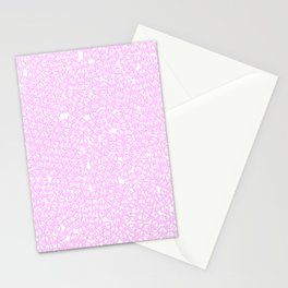 Peace symbols background / Lineart of hundreds of peace symbols filling image Stationery Cards