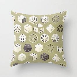 Dice Throw Pillow