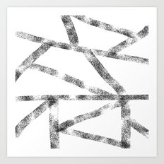 Cross black lines Art Print