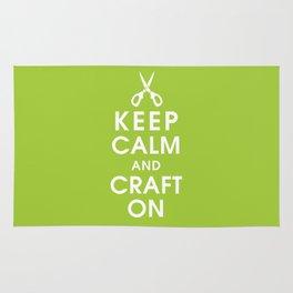 Keep Calm and Craft On Rug