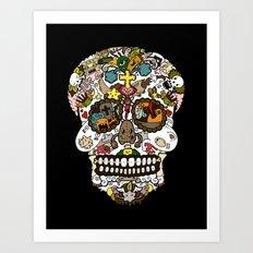 El dia de los muertos (Skull) Art Print