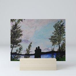Love by the Lake Mini Art Print