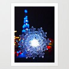 Electric snowflake Art Print