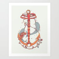 under the sea Art Prints featuring Under The Sea by Huebucket