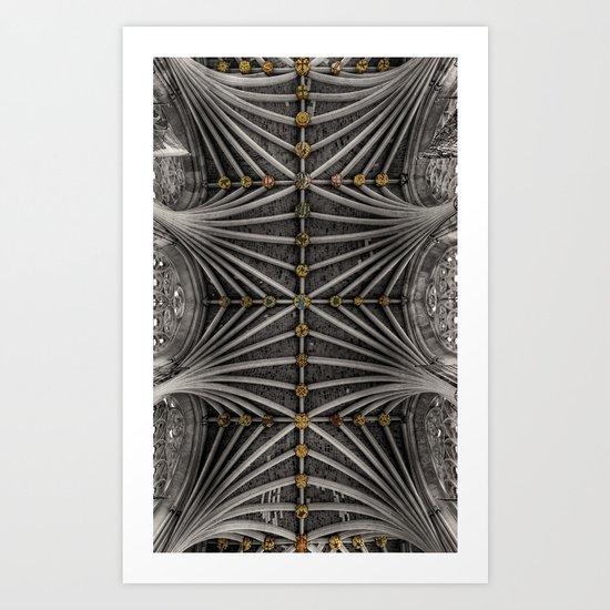 Ceiling bosses Art Print