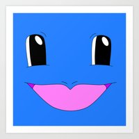 squirtle Art Prints featuring Squirtle! by kltj11