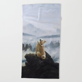 The Wanderer Above the Sea of Doge Beach Towel