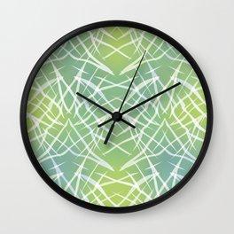 Abstract pattern .    Yellow blue . Wall Clock