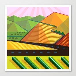 Valle de Guadelupe Wine Label Canvas Print