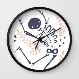 Falling Skeleton Wall Clock
