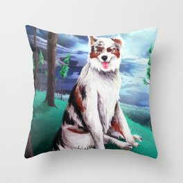 Australian Shephard Throw Pillow