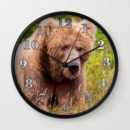 Brown Bear Kodiak Wall Clock