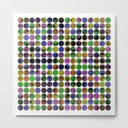 256 Textures - Pastel, geometric, textured art Metal Print