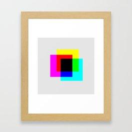 CMYK Squares! Framed Art Print