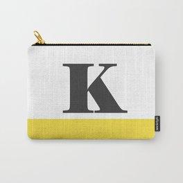 Monogram Letter K-Pantone-Buttercup Carry-All Pouch