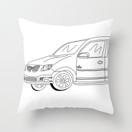My Friends' Cars - Vibe Throw Pillow