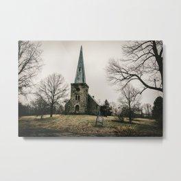 Abandoned Rural Church Metal Print