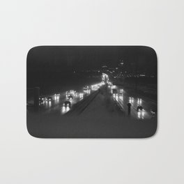 A snowy highway, the 401 at night Bath Mat