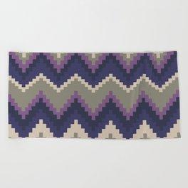 Jagged Violet Beach Towel
