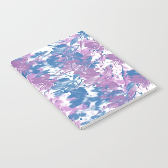 Elegant Painterly Floral Abstract Notebook