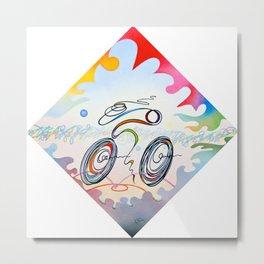 "Bicycle ""1km"" Metal Print"