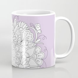 bouquet flowers in the teapot with red butterfly Coffee Mug