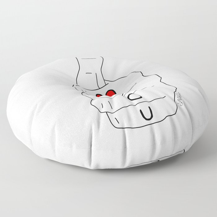 I love you - thumbs up Floor Pillow