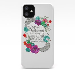 Girl With A Book iPhone Case