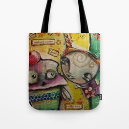 Panic In The Town Tote Bag